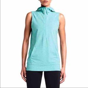 Nike Obsessed Sleeveless Half Zip Hoodie Vest Blue
